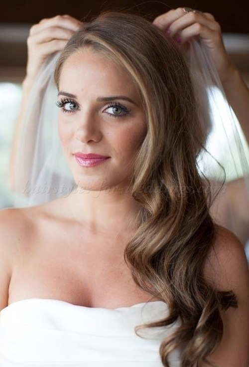 long hair down wedding styles 9 ideas for wedding hair brides amp guests 1296 | all down bridal hairstyle 1 b